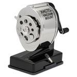 Elmer's Model KS Vacuum Mount Pencil Sharpener, Chrome Receptacle, Black Base