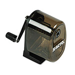 Elmer's Manual Table or Wall Mount Pencil Sharpener, Smoke Black Receptacle, Black Base