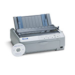 Epson FX 890 Dot Matrix Impact Printer, 9 Pin, 680cps Super Speed Draft/419cps Utility