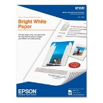Epson Premium Bright White Ink Jet Paper, Letter Size (8 1/2 x 11), 500 Sheets/ Pack