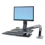 Ergotron WorkFit-A Sit-Stand Workstation w/Worksurface+, LCD LD Monitor, Aluminum/Black