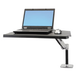 Ergotron WorkFit-P Sit-Stand Workstation, 34w x 20 3/4d x 7 1/2h, Polished Aluminum/Black