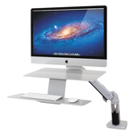 Ergotron WorkFit-A Sit-Stand Workstation, For Apple iMac Monitor, Silver