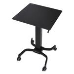 Ergotron LearnFit Adjustable Standing Desk, 24w x 23d x 31 7/8h to 51 1/2h, Black
