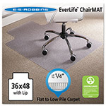 E.S. Robbins Anchormat Value Chair Mat for Low Pile Carpets, Lip, 36w x 48l, Clear