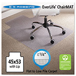 E.S. Robbins Anchormat Chair Mat for Low Pile Carpets, 45w x 53l, Clear