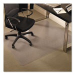E.S. Robbins Anchormat Chair Mat For Medium Pile Carpets, 46w x 60h, Clear