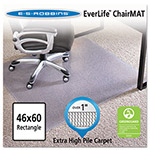 E.S. Robbins Anchormat Chair Mat For Plush Carpets, 46w x 60h, Clear