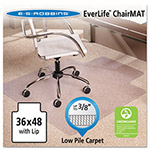 E.S. Robbins Anchormat Chair Mat For Low Pile/Loop Carpets, 36w x 48h, Clear