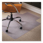 "E.S. Robbins Natural Origins Chair Mat With Lip For Carpet, 48"" x 36"", Clear"