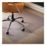 "E.S. Robbins Natural Origins Chair Mat for Carpet, 60"" x 46"", Clear"