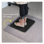 E.S. Robbins Sit or Stand Mat for Carpet or Hard Floors, 36 x 53 with Lip, Clear/Black