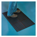 E.S. Robbins Pro Lite Four-Way Drain Mat, 24 x 36, Black