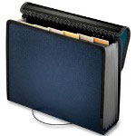 Pendaflex Poly Spiral Expanding File, 13 Pockets, Navy