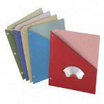 Esselte Folder, with Slash Pocket, Letter, 3-Hole Punch, 25/PK, Assorted