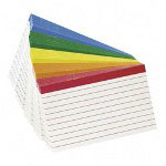 "Esselte Ruled Index Cards, 4"" x 6"""