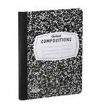 "Esselte 60 Sheet Wide Ruled Composition Book with Marble Cover, 9 3/4""x7 1/2"""
