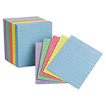 Esselte Ruled Mini Index Cards, 3 x 2 1/2, Assorted, 200/Pack