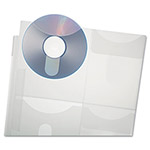 Esselte Media File, Holds 4 CDs/Flash Drive, Clear