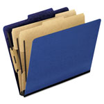 Pendaflex Six-Section Colored Classification Folders, Letter, 2/5 Tab, Blue, 10/Box