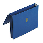 "Pendaflex 3 1/2"" Expanding Wallet with Velcro Closure, 11 3/4 x 9 1/2, Dark Blue"