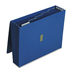 "Pendaflex 5 1/4"" Expanding Wallet, Velcro Closure, 12 x 10, 6 Pockets/5 Tabs, Dark Blue"