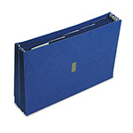 "Pendaflex 5 1/4"" Expanding Wallet, Velcro Closure, 15 x 10, 6 Pockets/5 Tabs, Dark Blue"