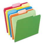 Pendaflex File Folders, Recycled, 2 Tone Assorted, Letter Size, Top Tab, 1/3 Cut, 100/Box