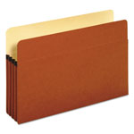"Pendaflex Standard Red Fiber Recyc. File Pockets, Legal Size, 3 1/2"" Exp., 25/Box"