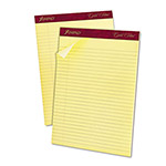 Ampad Gold Fibre Ruled Pad, Legal/Wide Rule, Ltr, Canary, 50-Sheet Pads/Pack, Dozen