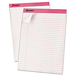 Ampad Breast Cancer Awareness Pads, Lgl/Wide Rule, Ltr, Pink, 6 50-Sheet Pads/Pack