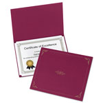 Pendaflex Linen Certificate Holders for 8 1/2x11 Documents, Burgundy with Gold Accents, 5/Pack