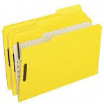 Pendaflex Colored Folders with 2 Embossed Fasteners, Legal, 1/3 Cut, Yellow, 50/Box