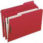 Pendaflex Colored Folders with 2 Embossed Fasteners, Legal, 1/3 Cut, Red, 50/Box