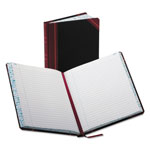 Boorum & Pease Record/Account Book, Record Rule, Black/Red, 300 Pages, 9 5/8 x 7 5/8