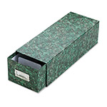 Pendaflex Reinforced Board 3 x 5 Card File with Pull Drawer, Green Marble