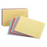 Pendaflex Ruled Index Cards in Assorted Colors, 3 x 5, Standard Colors, 100 Cards/Pack