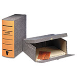 "Pendaflex Box File, 2 1/2"" Capacity, Letter Size, Black Agate Cover/Orange Spine"