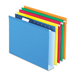 "Pendaflex Hanging Box Bottom Folder with InfoPocket, Assorted Colors, Letter, 2"" Cap., 25/Bx"