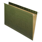 Pendaflex Reinforced Hanging File Folders, No Tab, Legal, Standard Green, 25/Box