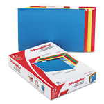 "Pendaflex 2"" Capacity Reinforced Hanging File Folders, Kraft, Legal, Assorted, 25/Box"