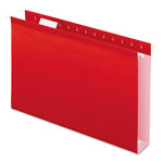 "Pendaflex Reinforced 2"" Extra Capacity Hanging Folders, 1/5 Tab, Legal, Red, 25/Box"