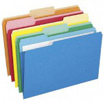 Pendaflex Pocket Folders, Recycled, Asst. 1/3 Cut Top Tabs, Legal, Asst. Colors, 25/Box