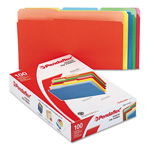 Pendaflex Recycled Interior File Folders, Assorted Bright Colors, 1/3 Cut, Legal, 100/Box