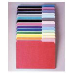 Pendaflex Recycled Interior File Folders, Assorted Pastel Colors, 1/3 Cut, Legal, 100/Box