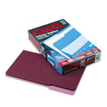 Pendaflex Recycled Interior File Folders, Burgundy, 1/3 Cut, Legal, 100/Box