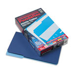 Pendaflex Recycled Interior File Folders, Navy, 1/3 Cut, Legal, 100/Box