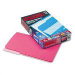 Pendaflex Recycled Interior File Folders, Pink, 1/3 Cut, Legal, 100/Box