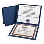 Pendaflex Padded Vinyl Diploma Cover with 2 Clear Pockets, 12 x 10 Insert Size, Blue