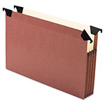 Esselte File Pocket With Swing Hooks, Redrope, Legal, 5/Box